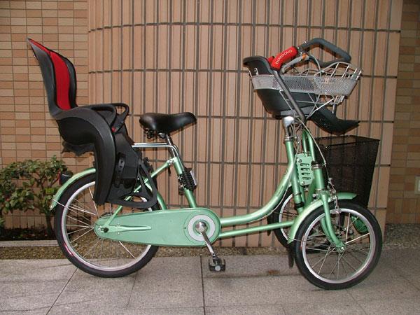 自転車の 自転車 三輪 前 : 前後子供のせ付 三輪自転車